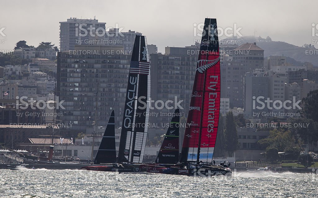 Americas Cup Race in San Francisco stock photo