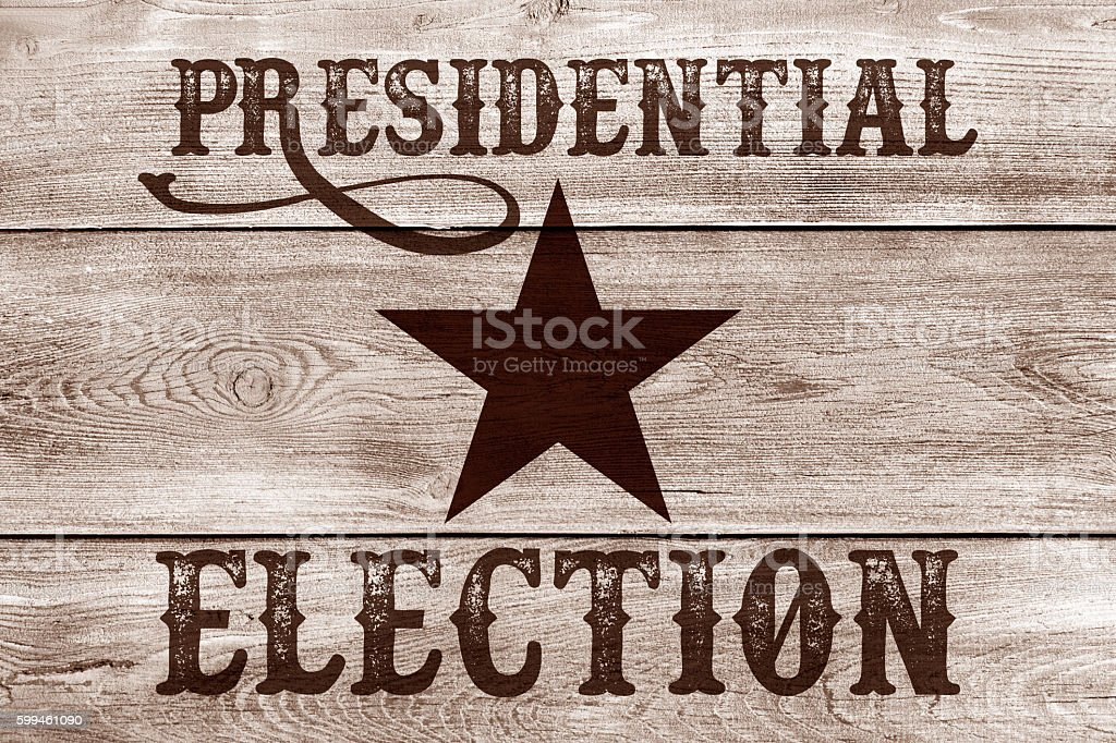America's election Old West stock photo