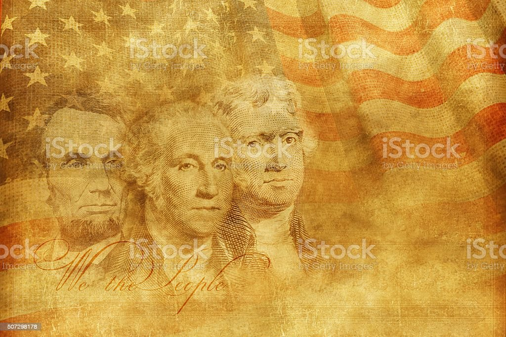 Americas Founding Fathers stock photo