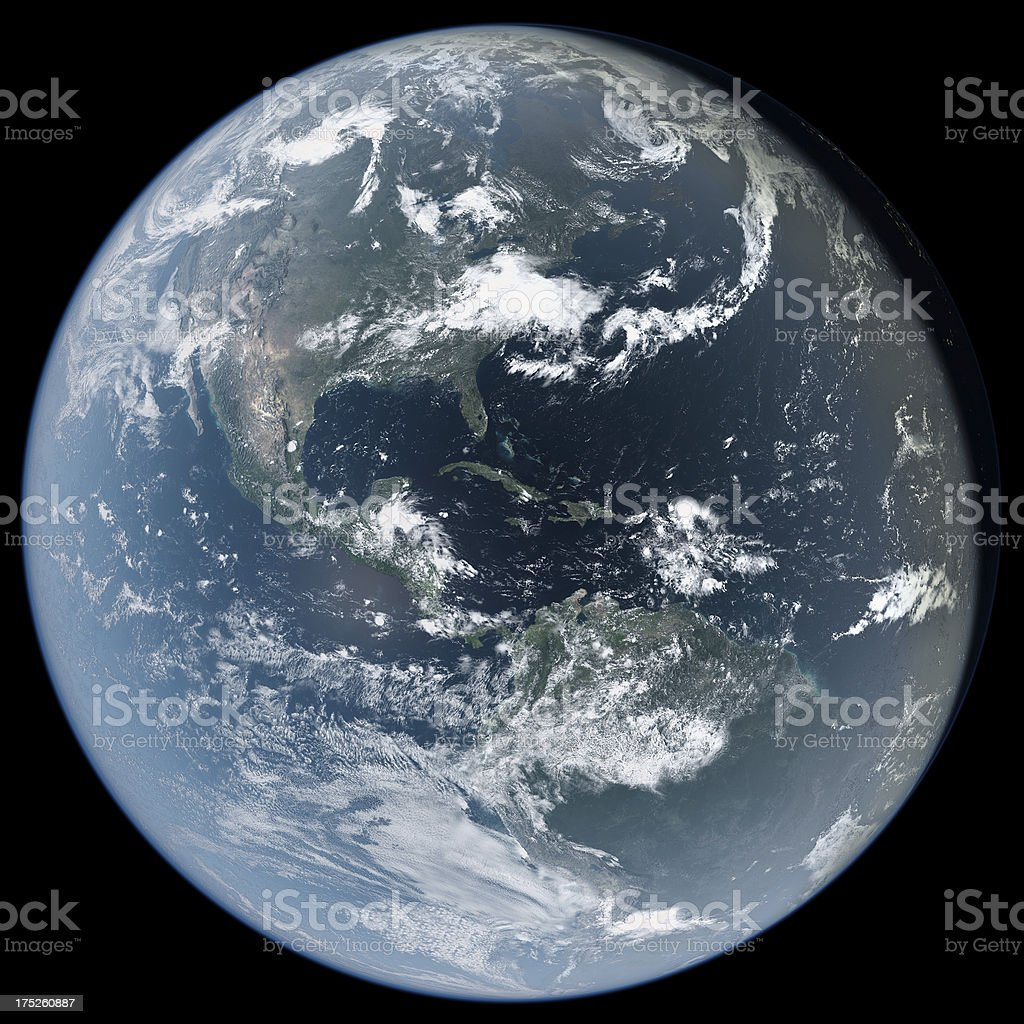 Americas from Space royalty-free stock photo