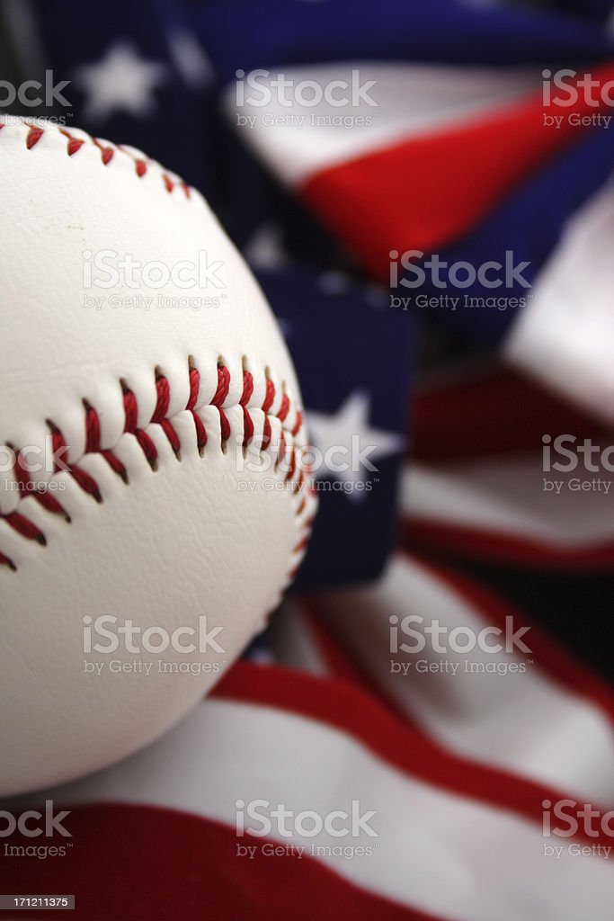 America's game (baseball) royalty-free stock photo