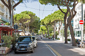 Amerigo Vespucci Avenue in Rimini, Italy.