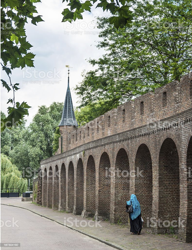 Amersfoort 15th century city wall stock photo