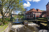 Amersfoort Medieval town wall Koppelpoort and the Eem river