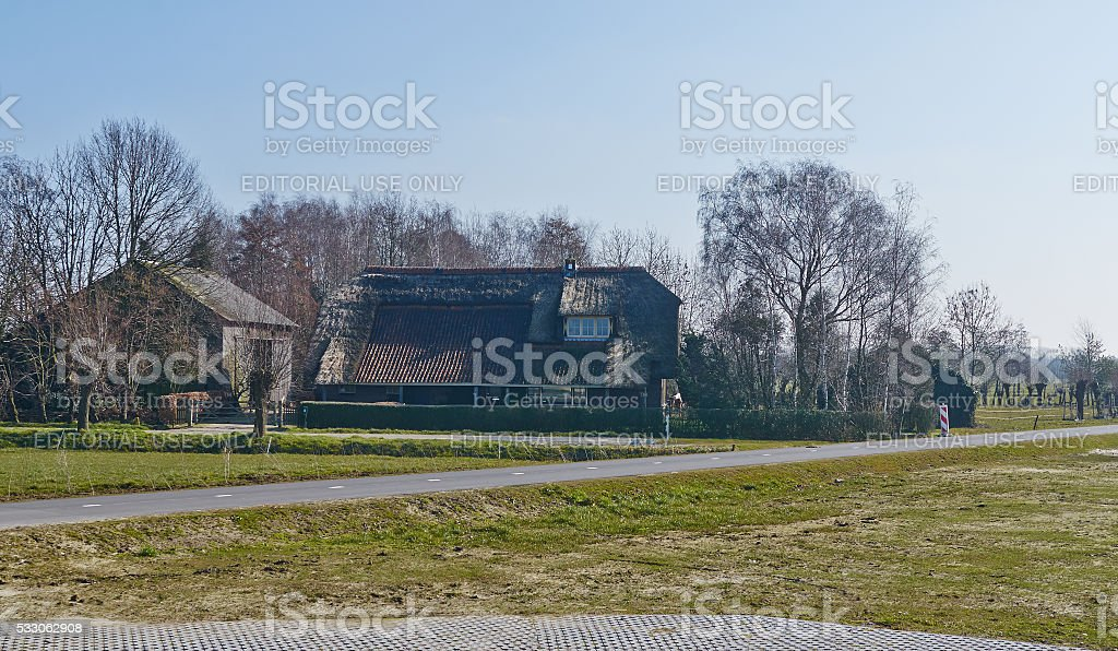 Amersfoort, Netherlands, Mach, 13, 2016, small farm, editorial. stock photo