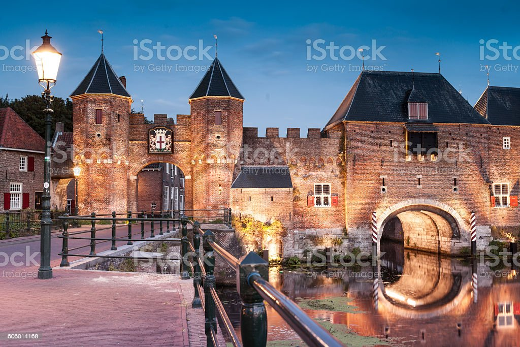 Amersfoort old center view, Province Utrecht, Netherlands stock photo