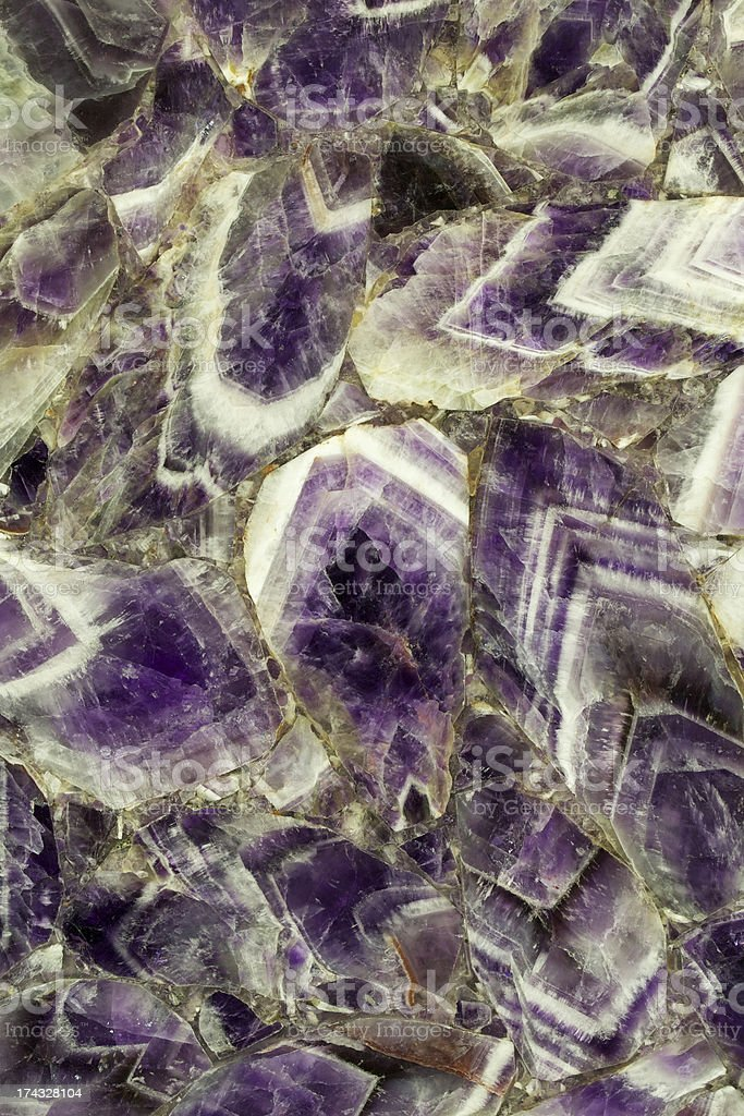 Amethyst composite decorative stone stock photo