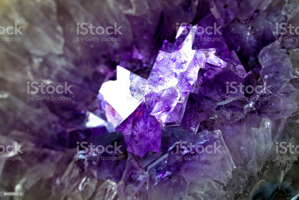 Amethyst Crystal Closeup Detail stock photo