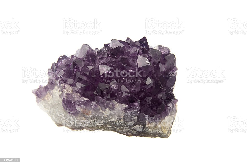 Amethyst Crystal Druse or Cluster stock photo
