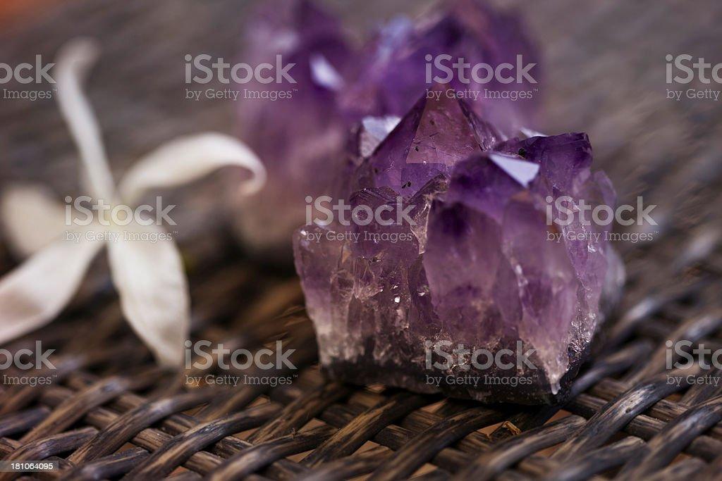Amethyst Crystal royalty-free stock photo