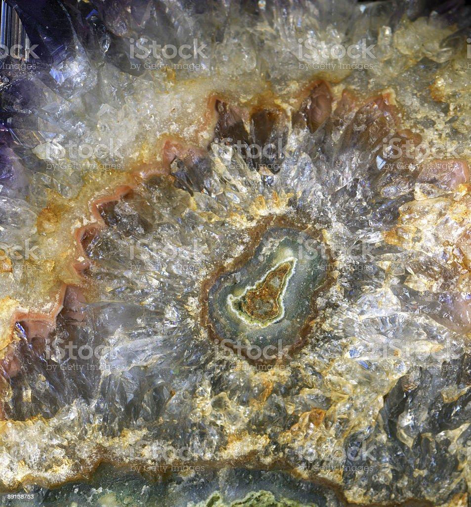 amethyst crystal rosette royalty-free stock photo