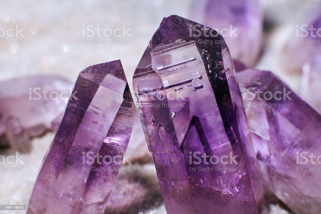 amethyst crystals stock photo