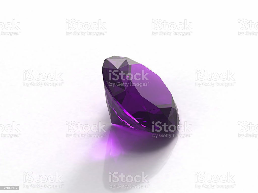 Amethyst gemstone isolated on white background royalty-free stock vector art
