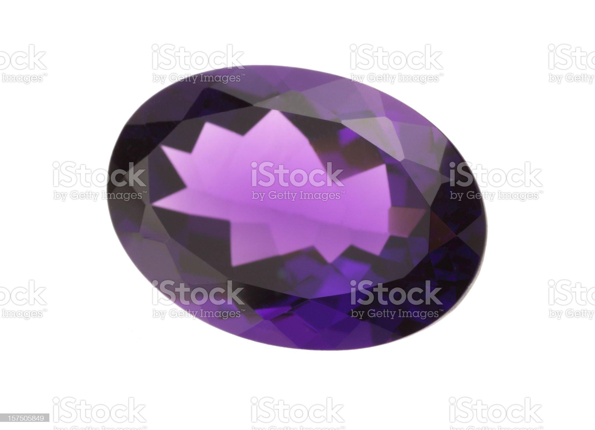 Amethyst gemstone royalty-free stock photo