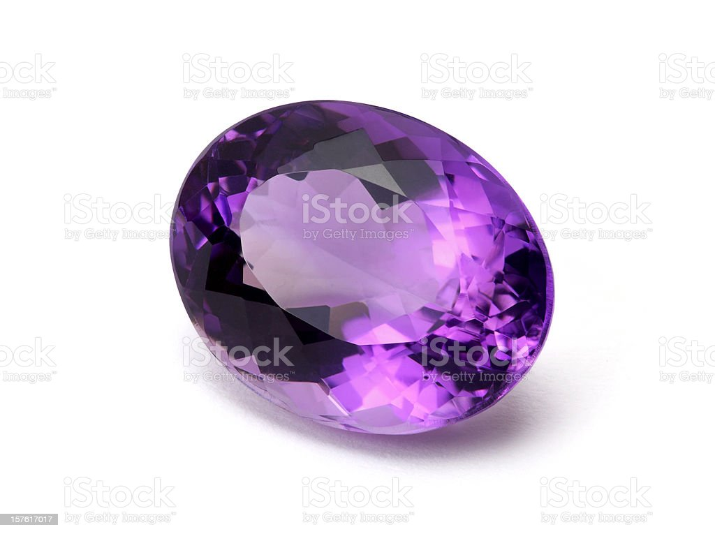 Amethyst gemstone stock photo
