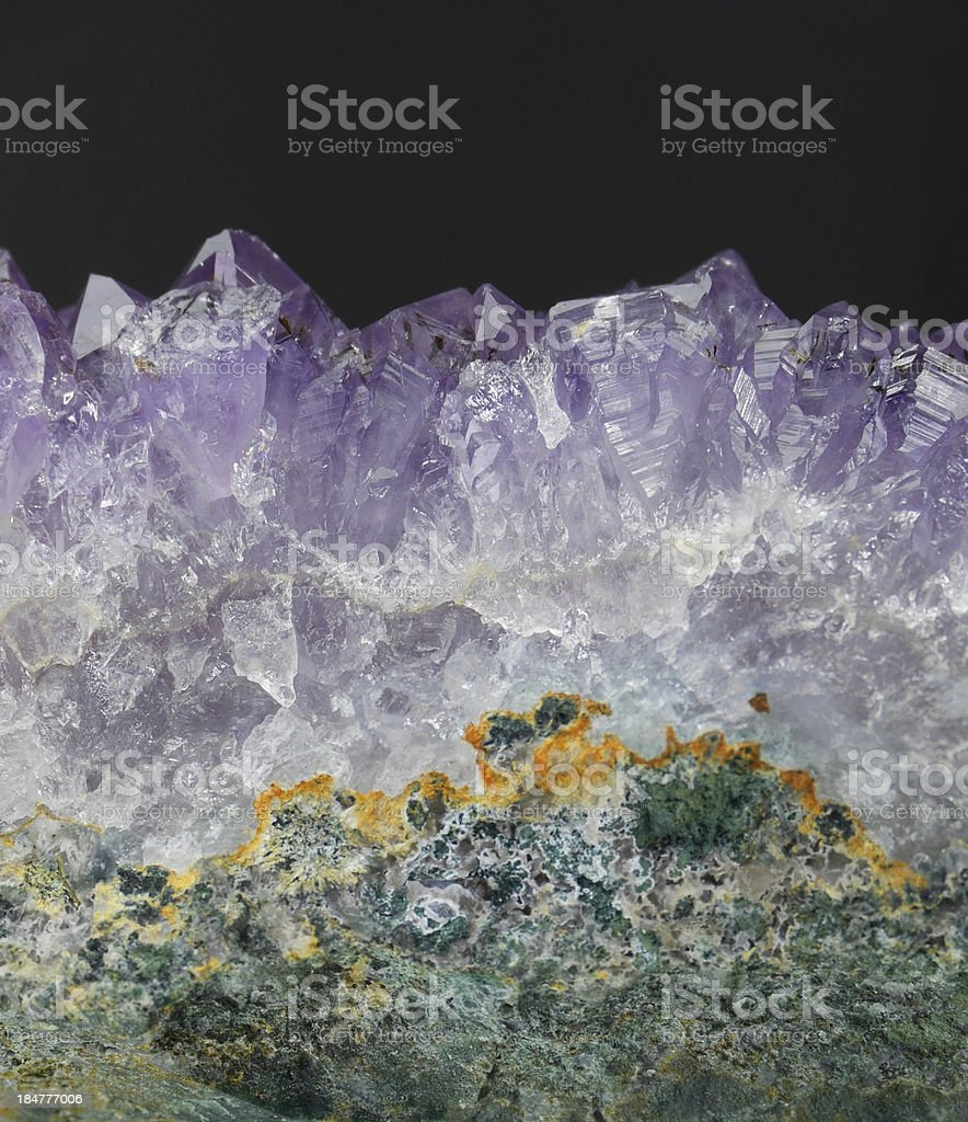 Amethyst Geode Close Up royalty-free stock photo