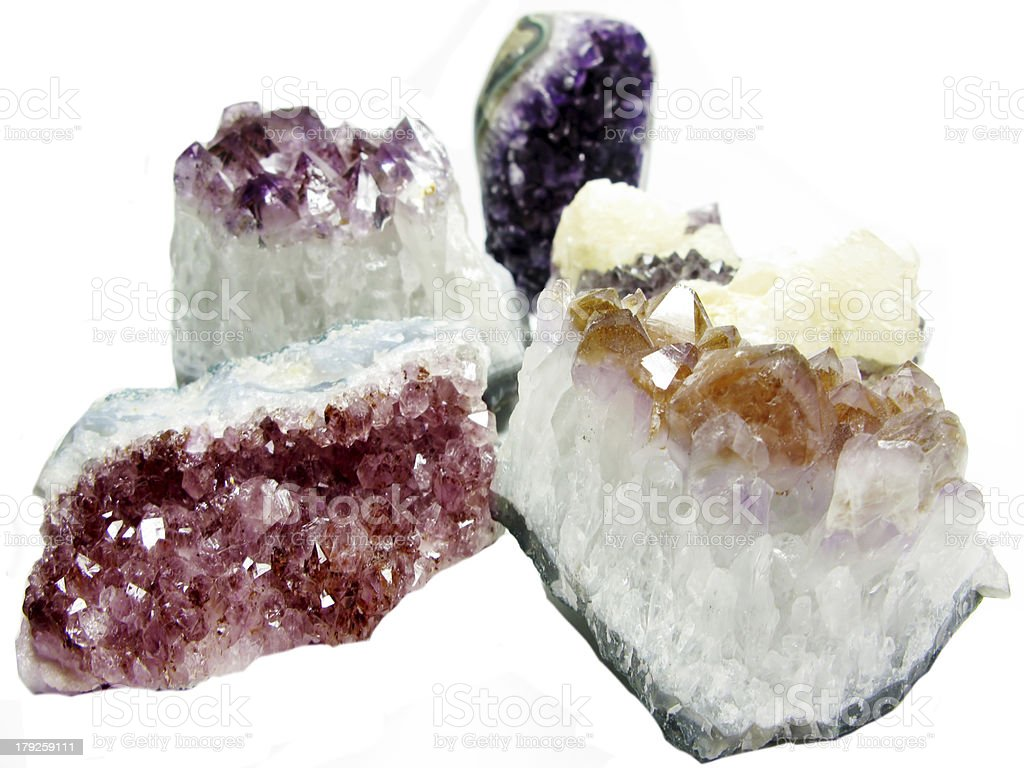 amethyst geode geological crystals royalty-free stock photo