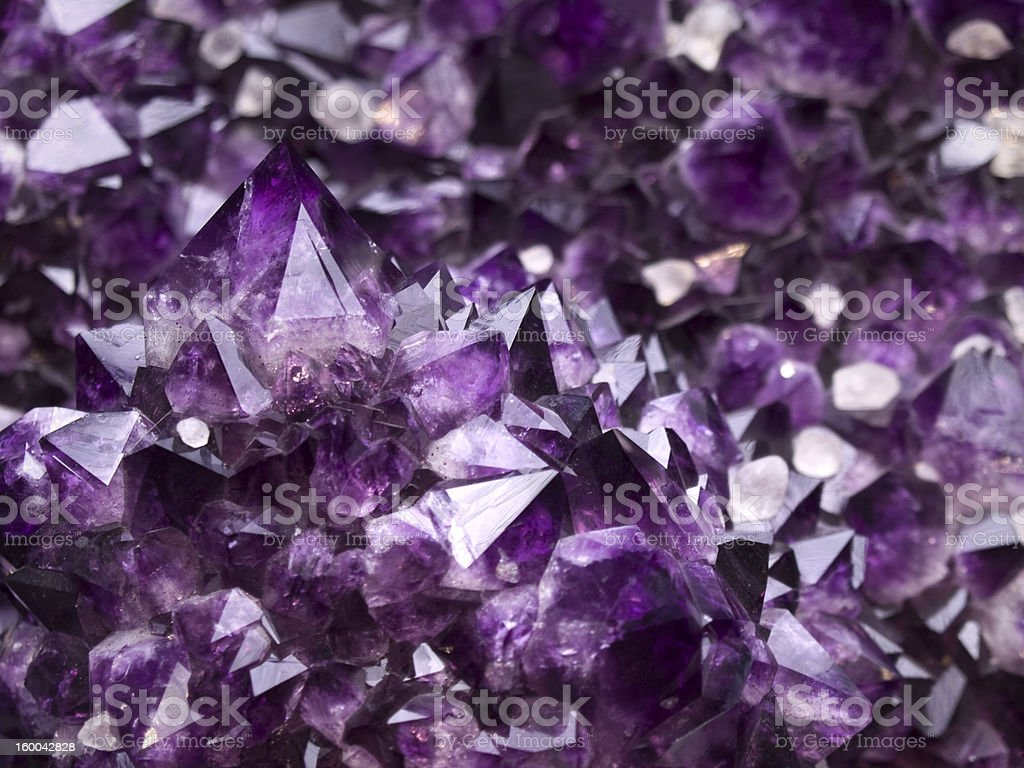Amethyst geode stock photo