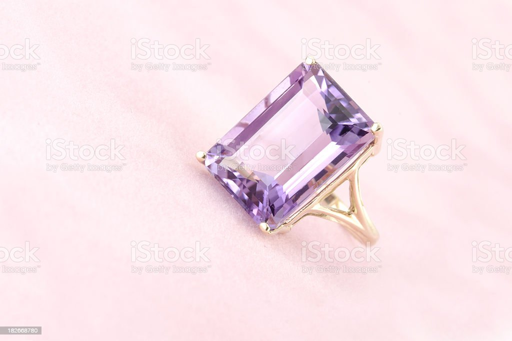 Amethyst Gold Ring royalty-free stock photo
