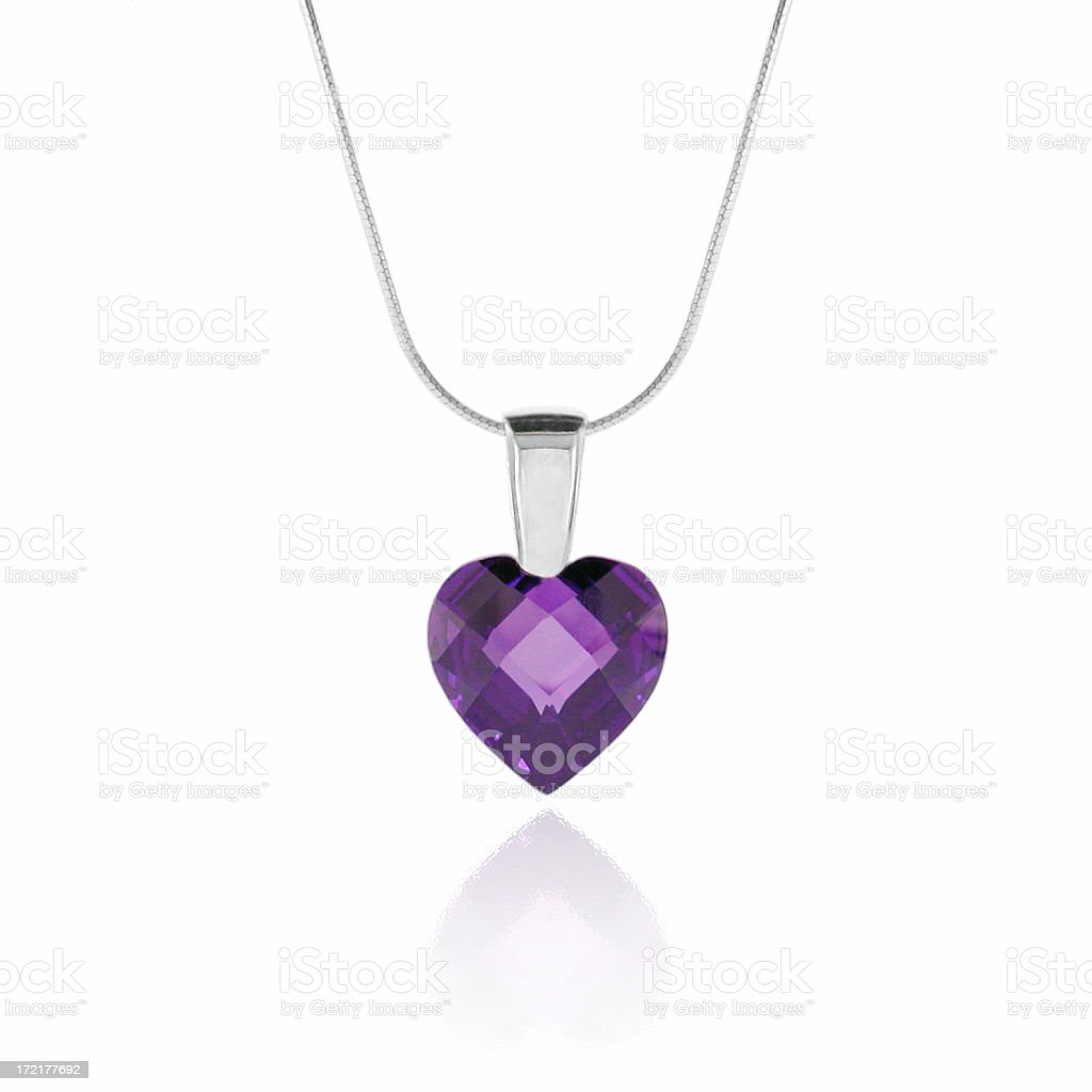 Amethyst Heart Pendant royalty-free stock photo