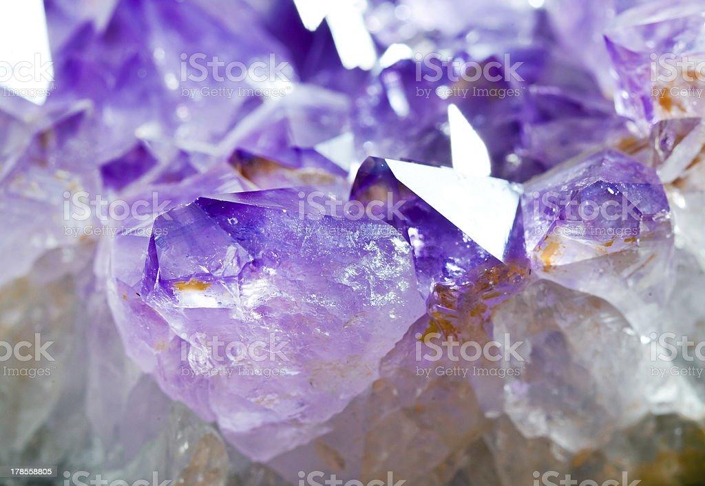 Amethyst macro royalty-free stock photo