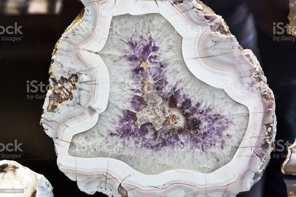Amethyst mineral stock photo