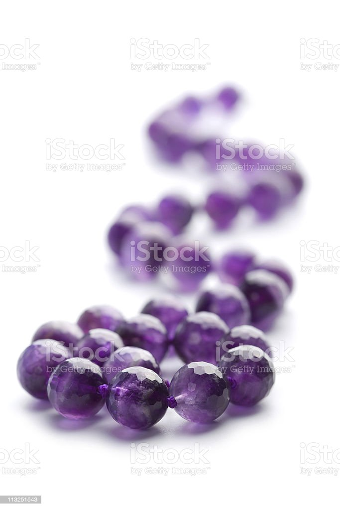 amethyst necklace isolated royalty-free stock photo