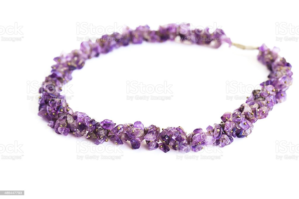 Amethyst necklace royalty-free stock photo