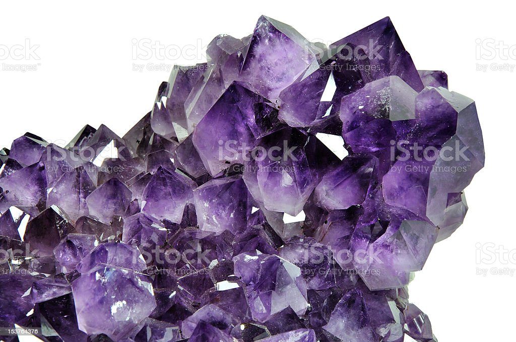 Amethyst. stock photo