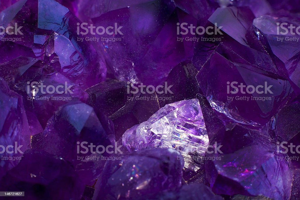 Amethyst Quartz stock photo
