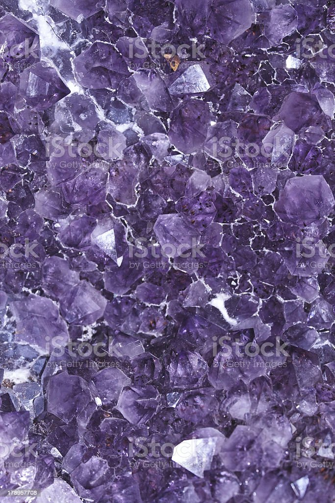 Amethyst rock close royalty-free stock photo