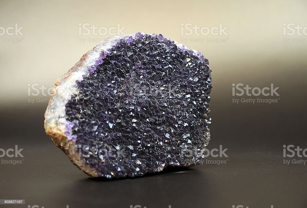 Amethyst Rock stock photo