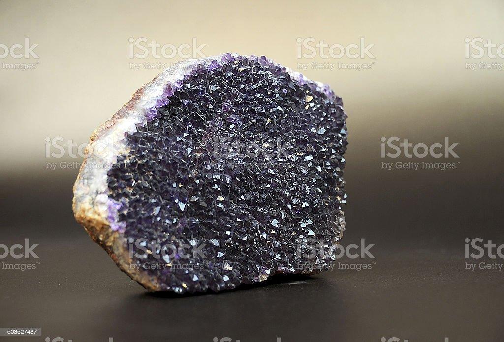 Amethyst Rock stock photo