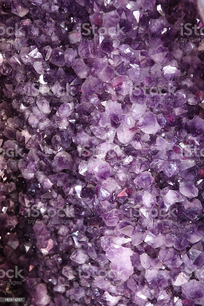 Amethyst Semi Precious Gems Quartz Background royalty-free stock photo
