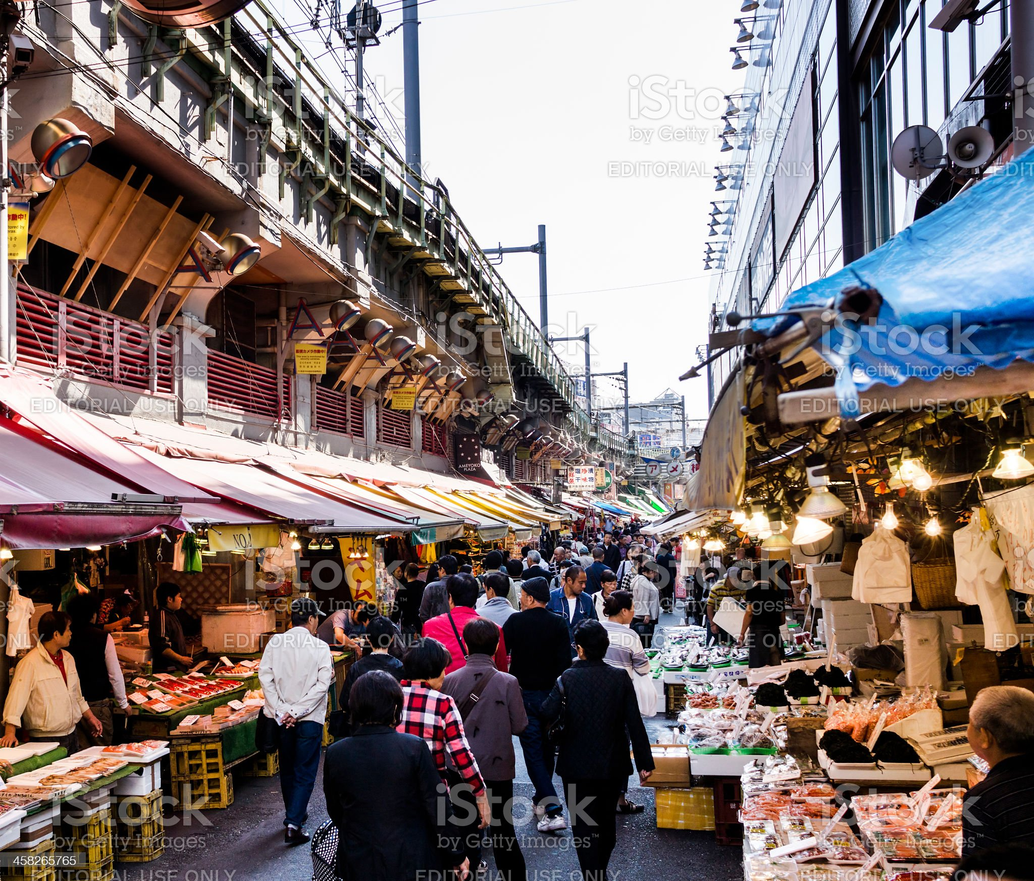 Ameyoko street market Tokyo Japan royalty-free stock photo