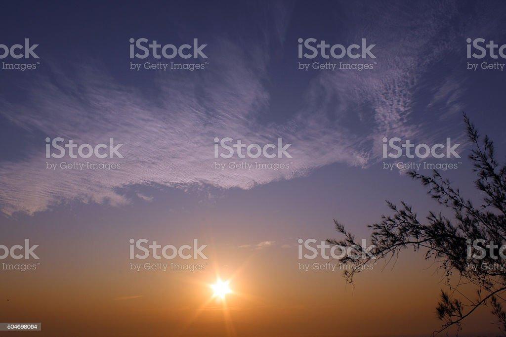 amezing sunset, sunrise view stock photo