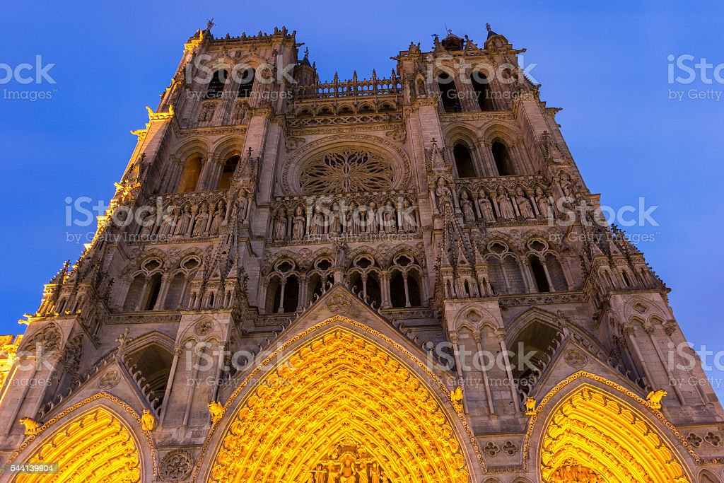Amiens Cathedral in France stock photo