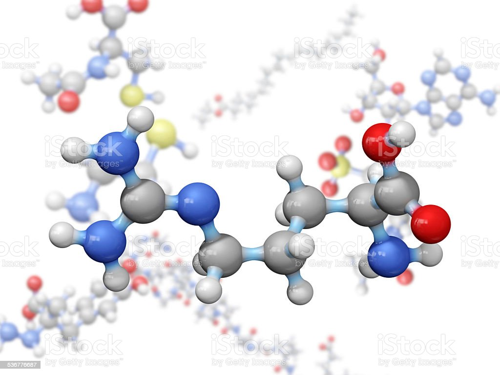 Amino Acid Arginine stock photo
