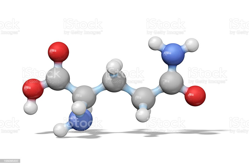 Amino Acid Glutamine royalty-free stock photo