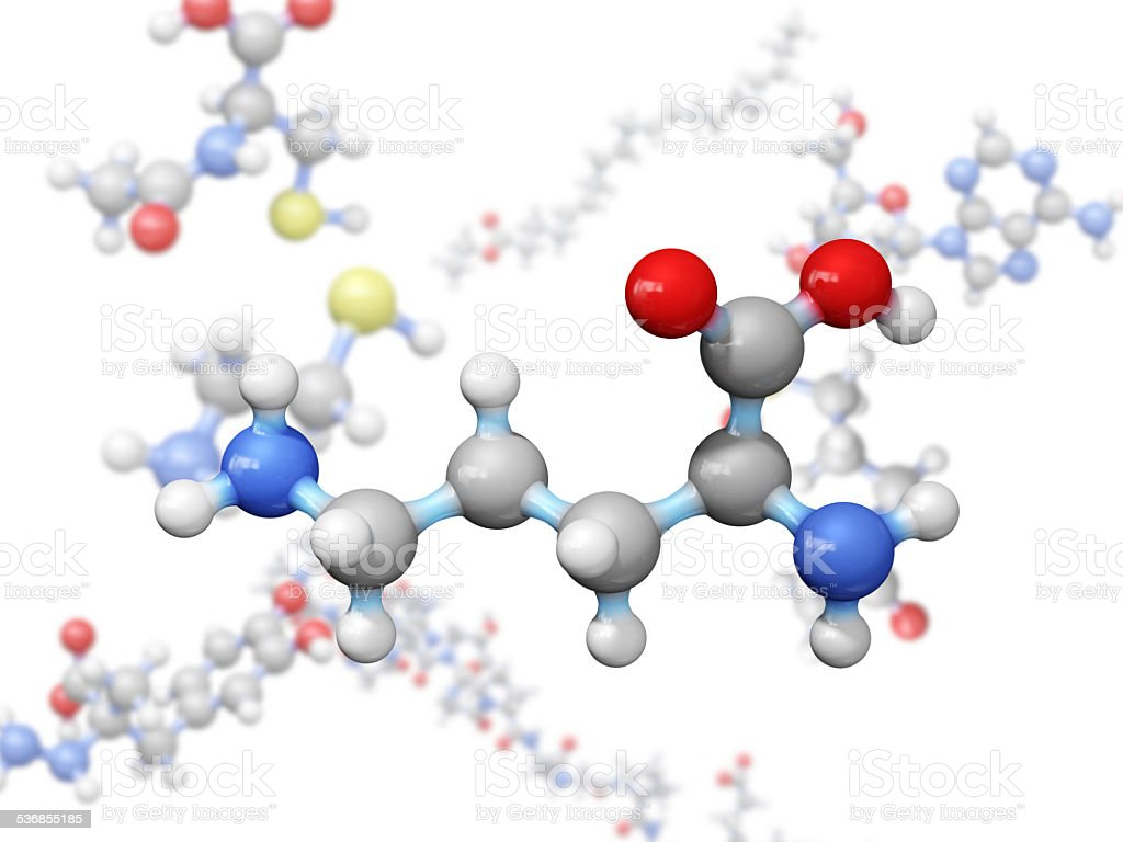 Amino Acid Ornithine stock photo