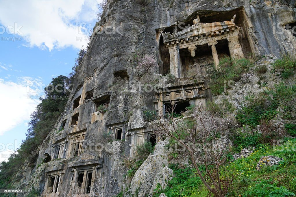 Amintas rock tombs stock photo