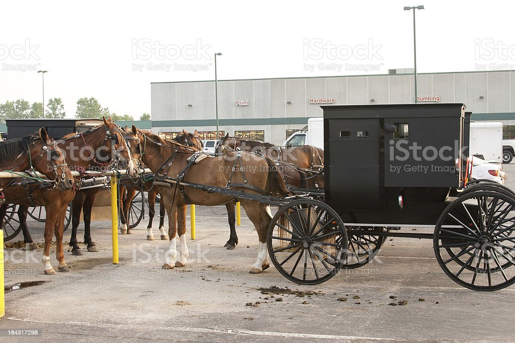 Amish at Hardware Store stock photo
