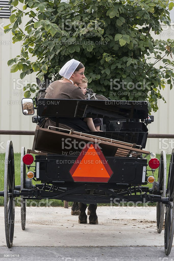 amish mother stock photo