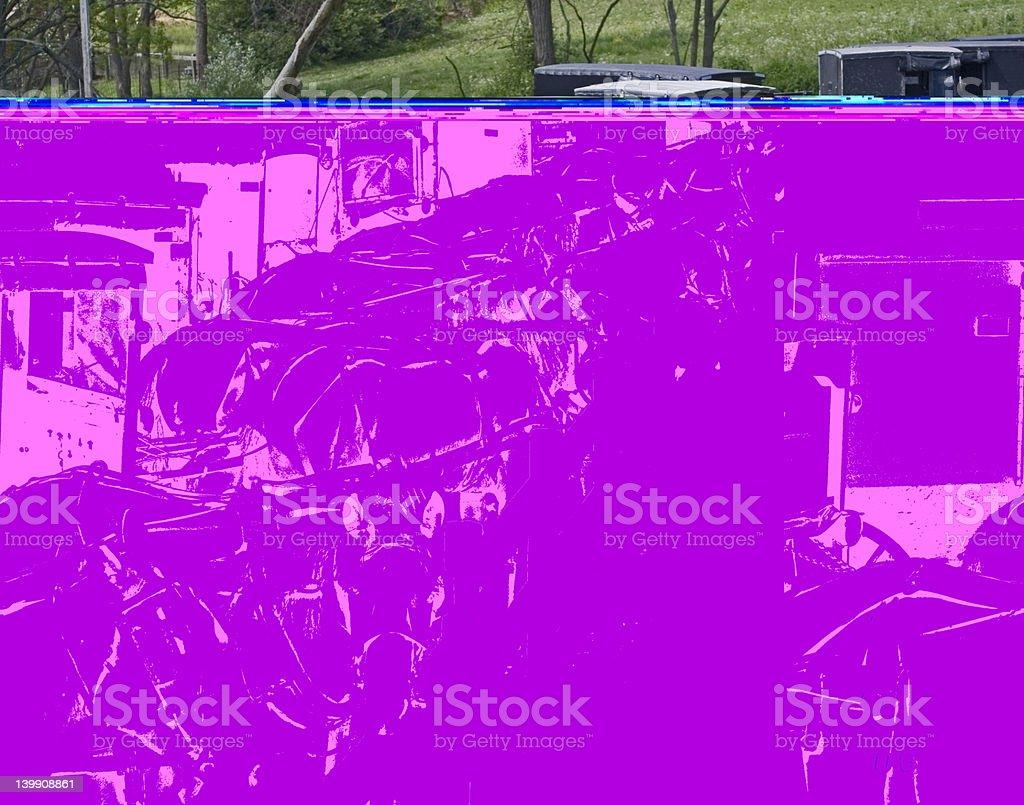 Amish Parking Lot stock photo