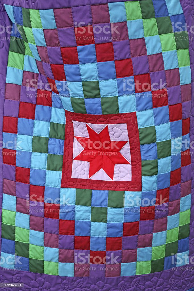 Amish Quilt royalty-free stock photo