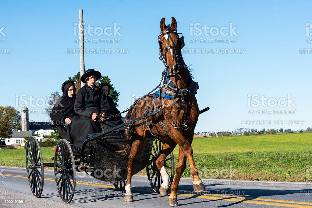 Amish Teenagers stock photo