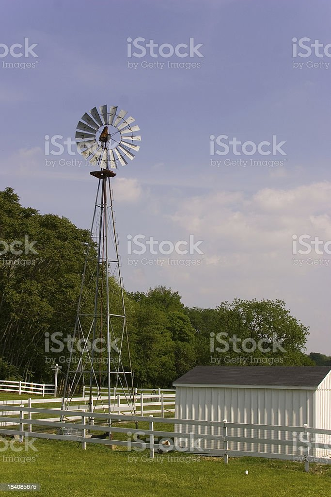 Amish village windmill royalty-free stock photo