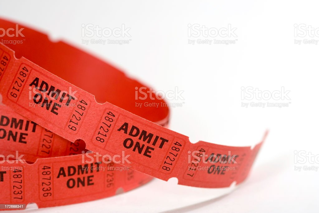 Amission Tickets royalty-free stock photo