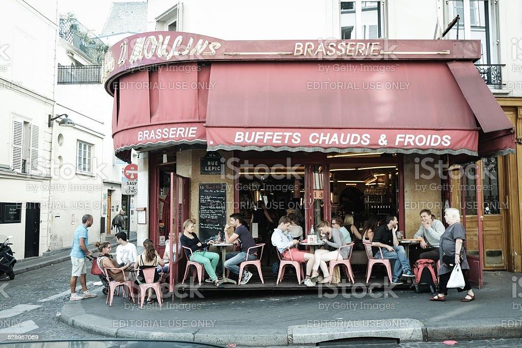 Amélie's Cafe des deux Moulins stock photo