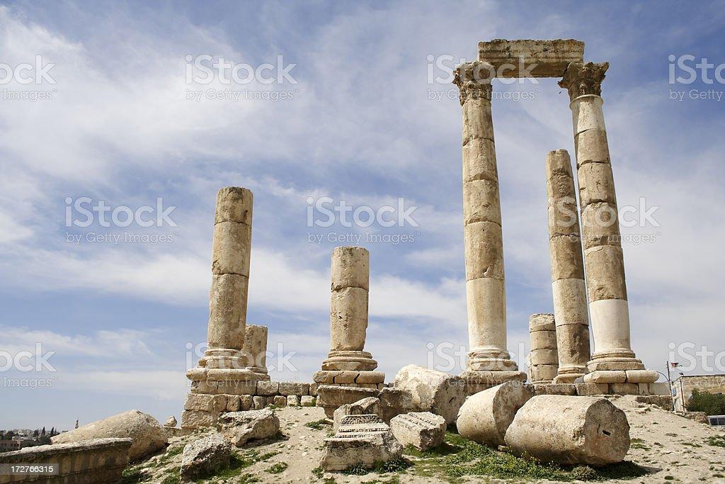 Amman Citadel royalty-free stock photo